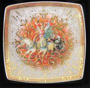 kl. Weihnachtsschale, Rosenthal, Versace, Christmas Chariot 2007, orig. Karton, 9,5 x 9,5cm.