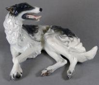 Liegender Classic Rose,(Rosenthal)Hund,gemarkt L- 15cm,H-9cm