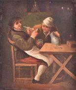 Lot 44 - Manner of Adriaen Van Ostade (1610-1685) Dutch an interior tavern scene with a gentleman smoking a