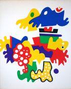 Alt, Otmar Buch mit Farblinolschnitten auf Bütten, 25 x 20 cm Die Kinguine (1986) Buch mit 11