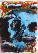 Chevalier, Peter Pastell und Gouache auf Zeichenblockpapier, 23,8 x 17 cm Ohne Titel (1983) Nicht