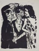 Dix, Otto 2 Blatt Lithographien auf Papier Die Verspottung (1960) / Frauenkopf im Profil (1966)