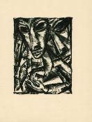 Burchartz, Max Lithographie auf Papier, 17,3 x 13,1 cm Paar mit Fisch (1919) Söhn HDO 130-10. Im