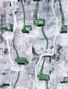 """Adochi Gouache auf Papier, 20,3 x 15 cm Ohne Titel (1993) Verso signiert und datiert """"4. VI. 2 -"""