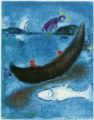 Chagall, Marc Farblithographie auf Velin d´Arches, 42 x 32 cm Der tote Delphin und die dreitausend