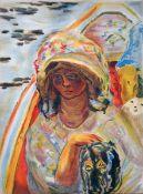 Bonnard, Pierre Farblithographie auf Papier, 35,5 x 26,3 cm Jeune fille dans une barque Lithographie