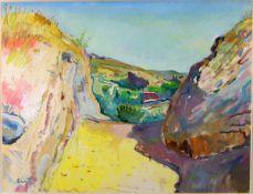 Crozet, Maurice Mischtechnik auf Papier, 47,8 x 61,6 cm Route des Mérinides à Fes - Maroc (1932)
