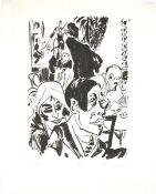 Ackermann, Max Lithographie auf Papier, 47 x 32,8 cm Café (1920) Signiert und betitelt.