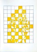 Berges, Werner Siebdruck in zwei Farben auf Offsetkarton, 50,2 x 40,2 cm Hälfte (1972) Gäßler 1972.