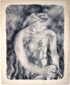 Braque, Georges Pochoir auf Richard de Bas Bütten, 44,5 x 34,8 cm Profil (1957) Im Stein