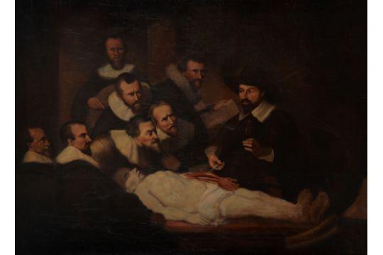 After Rembrandt Harmensz Van Rijn 19th Century The Anatomy