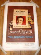 "THE BEGGAR'S OPERA (1953) US One Sheet (27"" x 41"") Starring Laurence Olivier. Linen Backed"