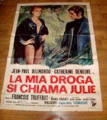 "LA MIA DROGA SI CHIAMI JULIE (1970) Italian 4 Fogli (78"" x 55""). Folded."
