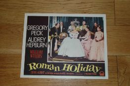 "ROMAN HOLIDAY (1953) US Lobby Card (11"" x 14"") No. 7 showing Audrey Hepburn as the Princess."