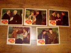 "SCOTLAND YARD INVESTIGATOR (1945) US Lobby Cards (11"" x 14""). Set of 5."