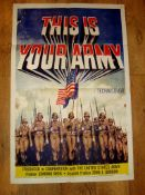 "THIS IS YOUR ARMY (1954) US One Sheet Poster (27"" x 41"") . Folded"