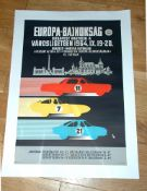 BUDAPEST 'Városliget' (City Park)(1964) Advertising poster for this round of the European Touring