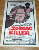 "THE ZODIAC KILLER (1971) US One Sheet (27"" x 41"") Folded."