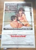 """BEDAZZLED (1967) US One Sheet (27"""" x 41"""") Raquel Welch and Dudley Moore star. Folded"""