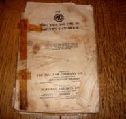 AUTOMOBILIA - An MG Series MGA 1600 (Mk II) Driver's Handbook - poor cover but appears complete