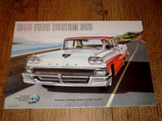 AUTOMOBILIA - A 1958 Brochure for the Ford Custom 300