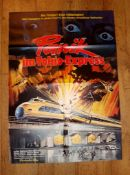 "PANIK IM TOKIO-EXPRESS (1976) (Shinkansen daibakuha / The Bullet Train) - German A1 (23""x33"")"