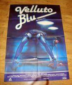 "BLUE VELVET (1986) aka Vellento Blu. Art Style Italian 2 Foglio (39"" x 55""). Very different"
