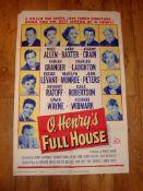 """O'HENRY'S FULL HOUSE (1952) (Marilyn Monroe) - US One Sheet (27"""" x 41"""") Folded"""