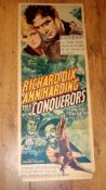 THE CONQUERORS (1932) US Insert. Ageing and some paper loss to corners.