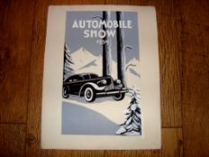 AUTOMOBILIA - An interesting piece of hand painted artwork for a US Automobile Show in 1939 (
