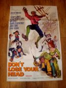 """CARRY ON…. DON'T LOSE YOUR HEAD (1966) UK One Sheet (27"""" x 40"""") Folded"""