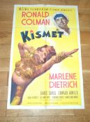 """KISMET (1944) US One Sheet (27"""" x 41"""") Rare Style D with superb artwork of Marlene Dietrich. Folded"""