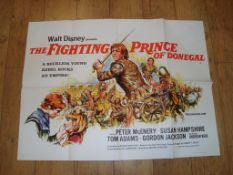 """THE FIGHTING PRINCE OF DONEGAL (1966) UK Quad Film Poster (30"""" x 40"""") Folded"""