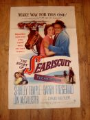 """THE STORY OF SEA BISCUIT (1949) (Shirley Temple) US One Sheet (27"""" x 41"""") - folded - graffiti to"""