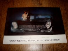 AUTOMOBILIA - A 1958 Brochure for the Continental Mark III and the 1958 Lincoln