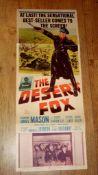 THE DESERT FOX (1951) (James Mason) - US Insert Folded