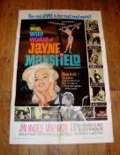 "THE WILD WILD WORLD OF JANE MAYNESFIELD (1968 ) US One Sheet (27"" x 41"") - folded"