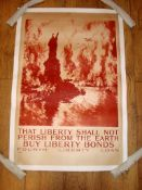 "FOURTH LIBERTY LOAN (1918) Advertising Poster for Liberty Bonds - Artwork by Joseph Pennell (24"" x"