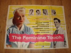 """THE FEMININE TOUCH (1956) UK Quad Film Poster (30"""" x 40"""") for this Ealing Comedy Folded"""