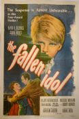 """THE FALLEN IDOL (1949) US One Sheet (27"""" x 41"""") - Adapted from the Graham Green`s The Basement Room,"""