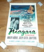 """NIAGARA (1953) US One Sheet (27"""" x 41"""") Marilyn Monroe . Linen backed with some damage to upper"""
