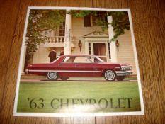 AUTOMOBILIA - A 1963 Chevrolet Range brochure