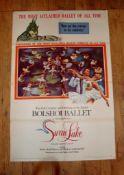 """SWAN LAKE (1957) (Full Ballet as performed by the Bollshoi) - US One Sheet (27"""" x 41"""") - folded"""