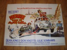 "HERBIE GOES TO MONTE CARLO (1977) UK Quad (30"" x 40"") Folded"