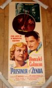 "PRISONER OF ZENDA (1937) US Insert (36"" x 14"") Douglas Fairbanks Jr swashbuckling classic. Rolled"