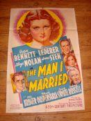 "THE MAN I MARRIED (1940) US One Sheet (27"" x 41"") Fabulous stone litho Folded"
