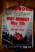 GOODWOOD - Motor Racing Poster - 'Motor Racing at its Best'. (1950s) Rolled