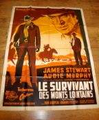 "NIGHT PASSAGE (1957) aka Le Survivant des Monts Lointains. Re-release French Grande (46"" x 61¾"") ("