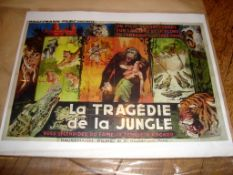"FORBIDDEN Adventure IN ANGKOR (1937) aka La Tragedie de la Jungle. French Double Grande (62½"" x"