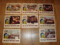 THE FALL OF THE ROMAN EMPIRE (1964) US Lobby Cards complete set of 8
